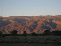 The Amargosa Range at sunset from Bishop, CA