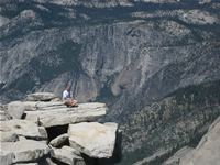 On the edge of Half Dome