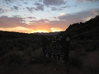 Crack of dawn at the trailhead
