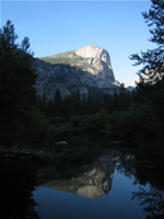 Half Dome in Mirror Lake