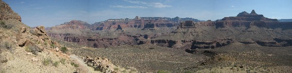 Panoramic view from the South Kaibab Trail