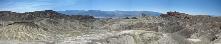 Panoramic view from Zabriski Point