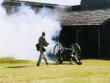 Cannon firing at Fort